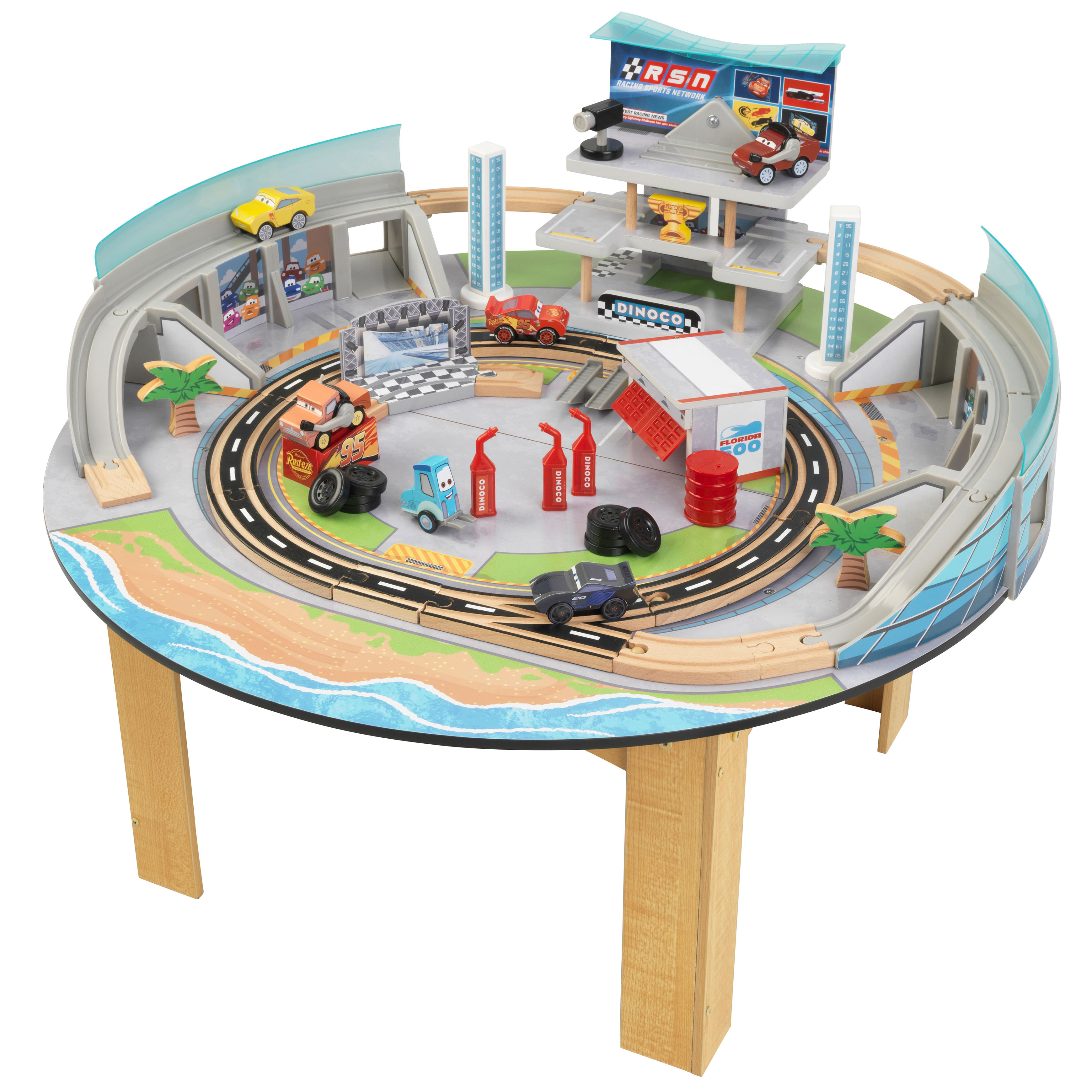 Awesome Kidkraft Cars 3 Florida Racetrack Table Download Free Architecture Designs Scobabritishbridgeorg