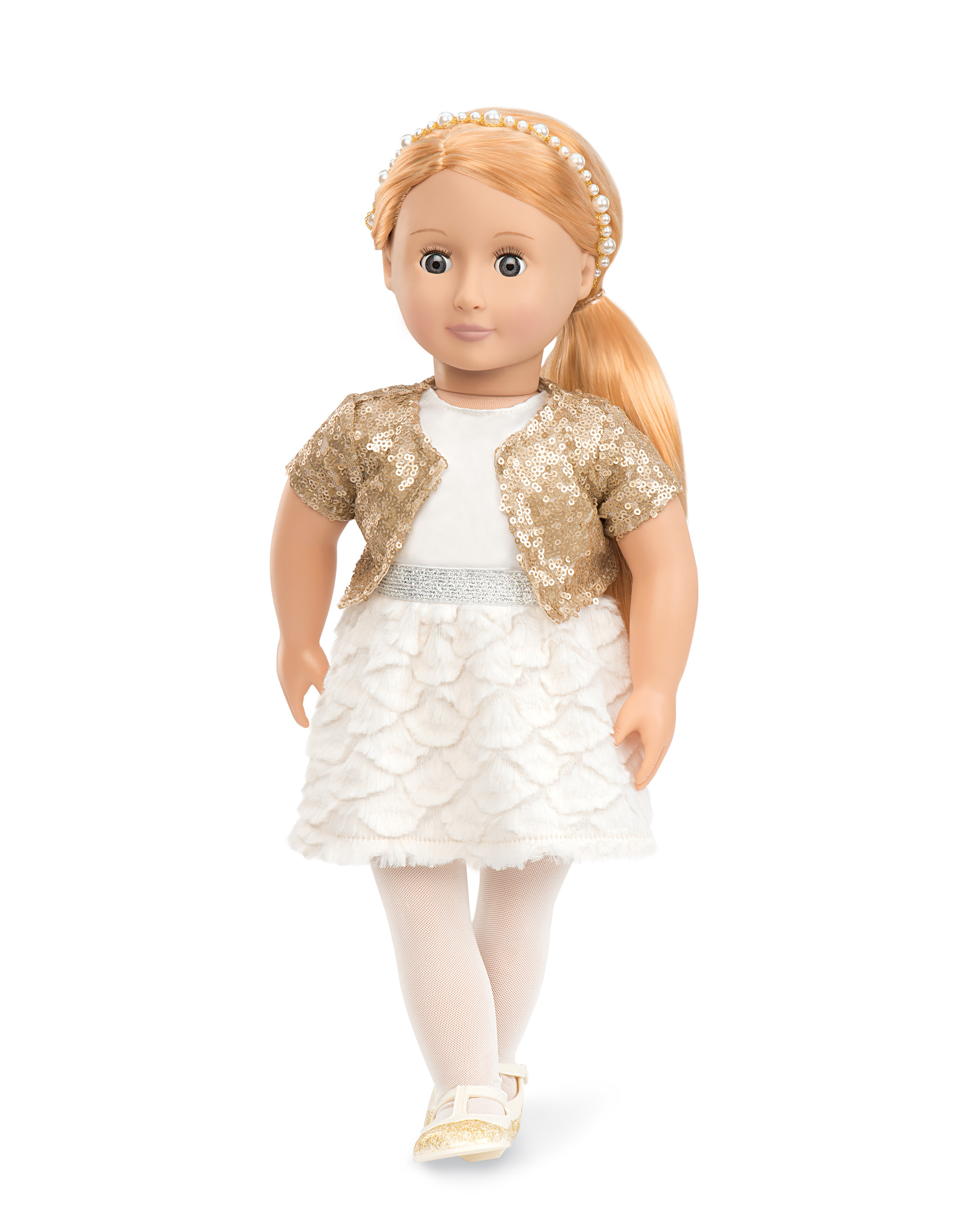 9c776884fe772 Our Generation - Holiday Doll In Sequin Outfit - Hope