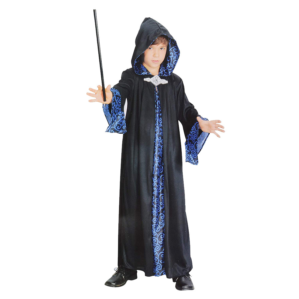 508db2438 Bristol Novelty - Wizard Robe Costume - Blue   Black
