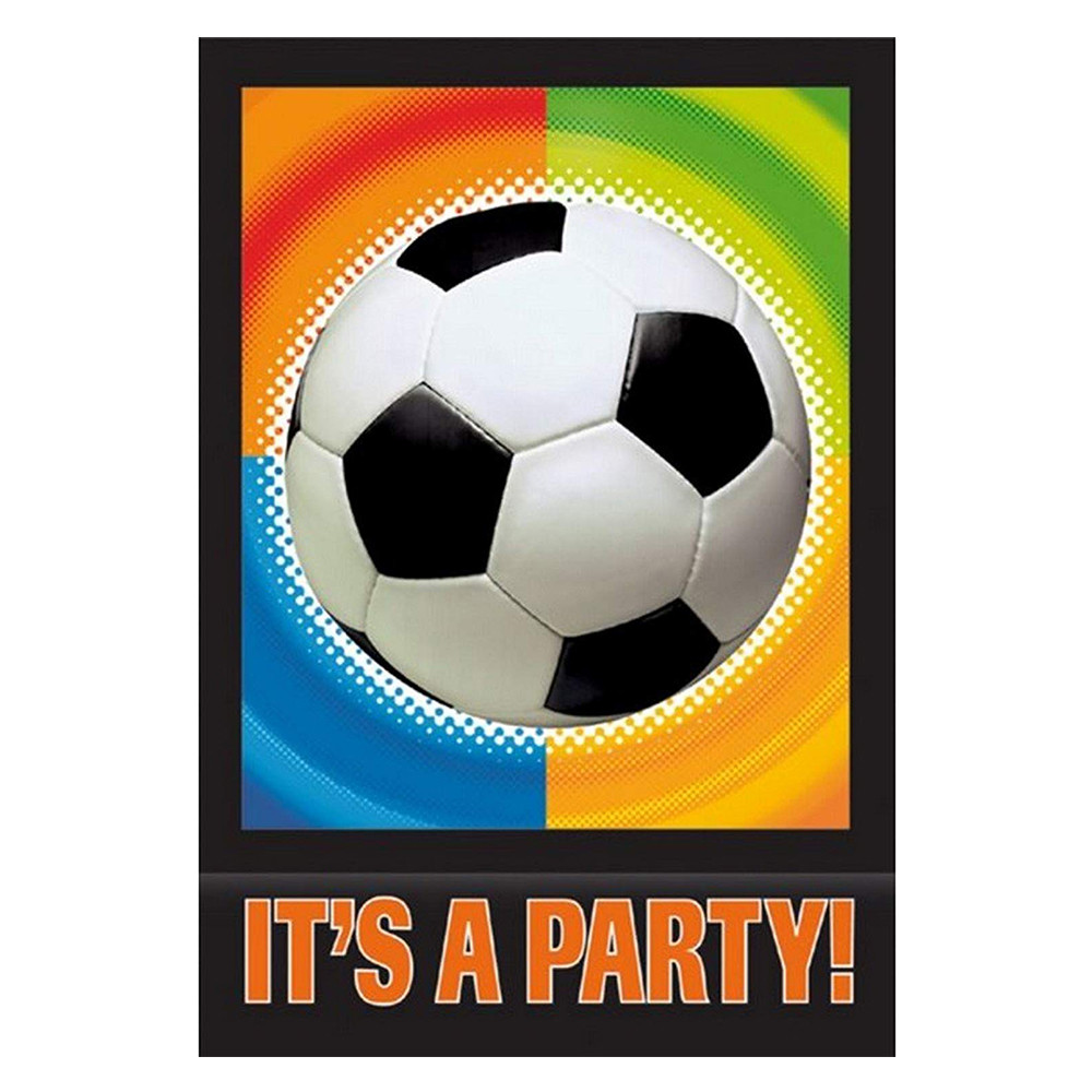 amscan football party invitation cards
