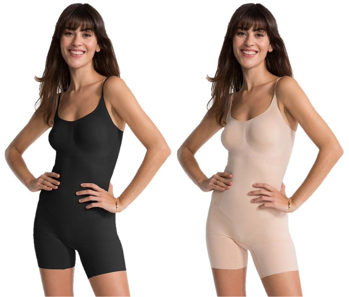 49bc5a15d37f5 Spanx - OnCore Mid-Thigh Bodysuit In 2 Colours