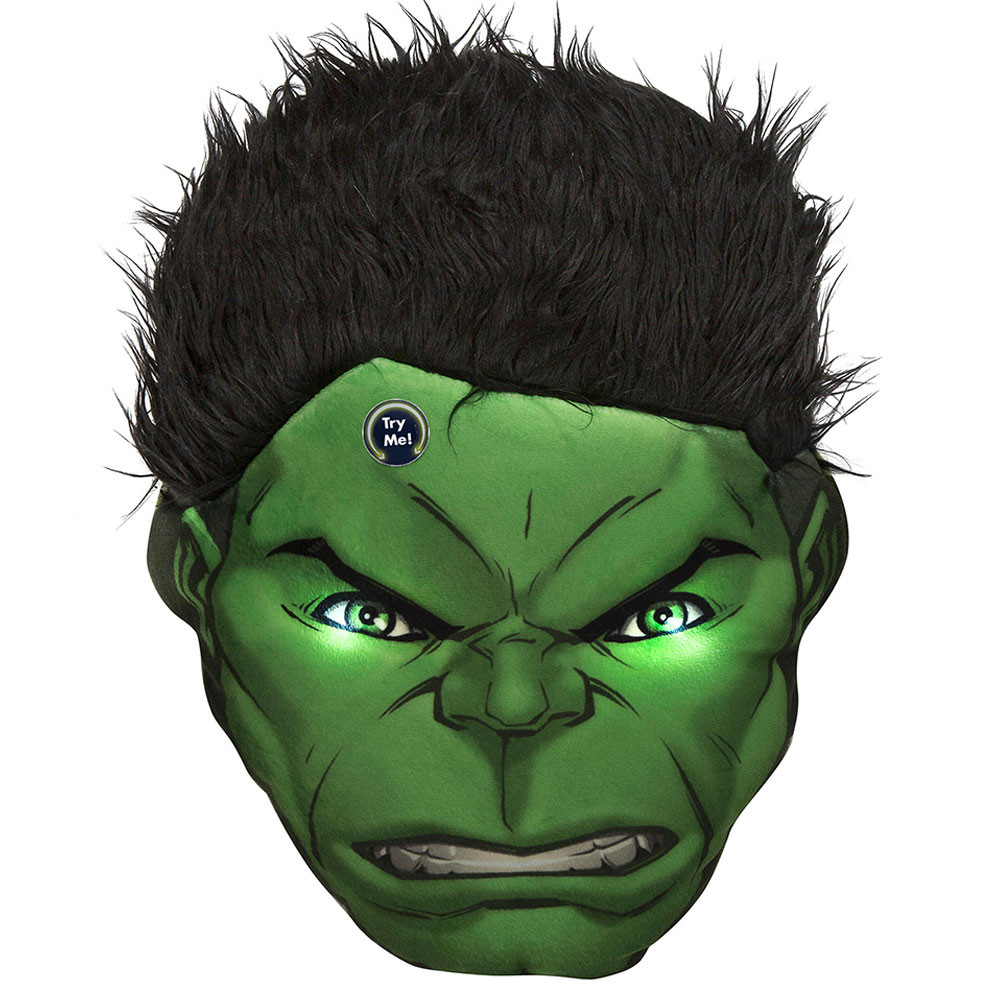 Marvel Avengers Hulk Head Cushion Print With Led
