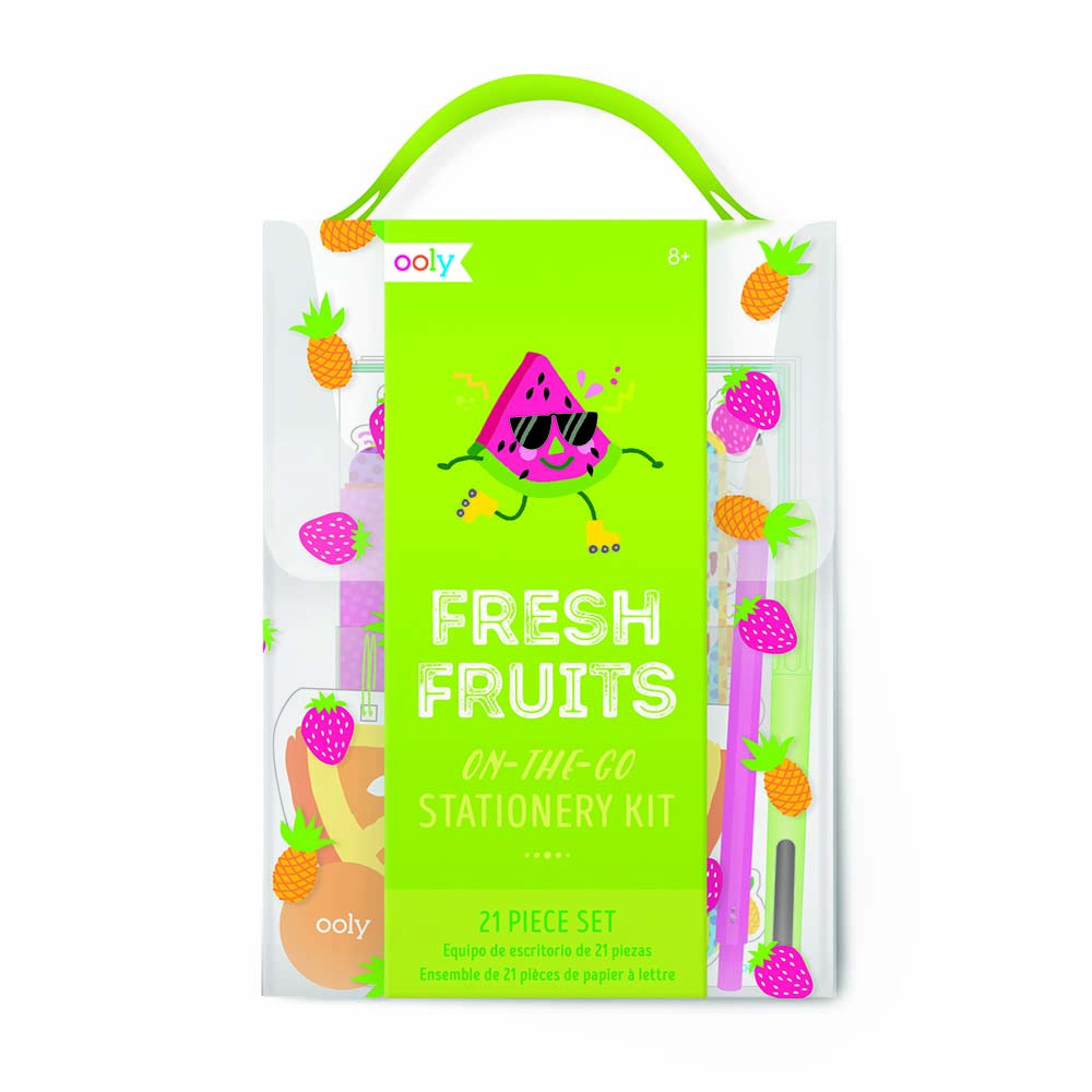 Ooly On The Go Stationery Kit Fresh Fruits Oops Stary Back Pack Get Free Easy Click Ladybird