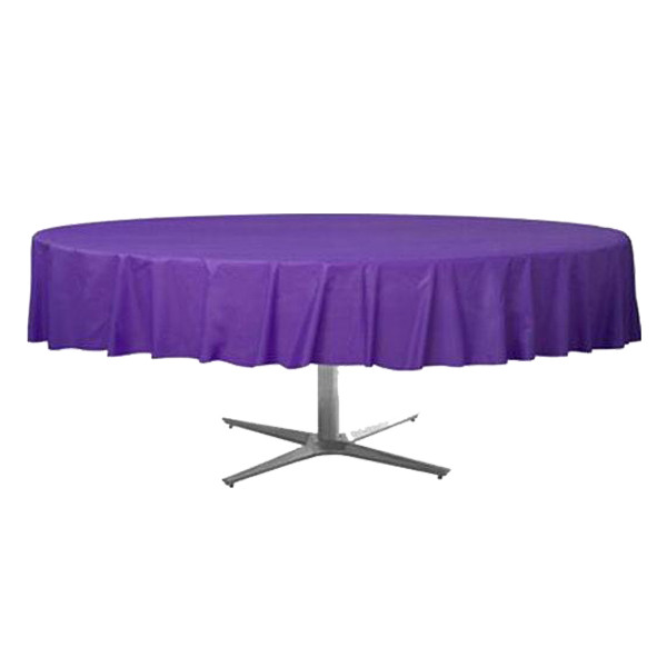 225 & Amscan - Round Plastic Table Cover 84\