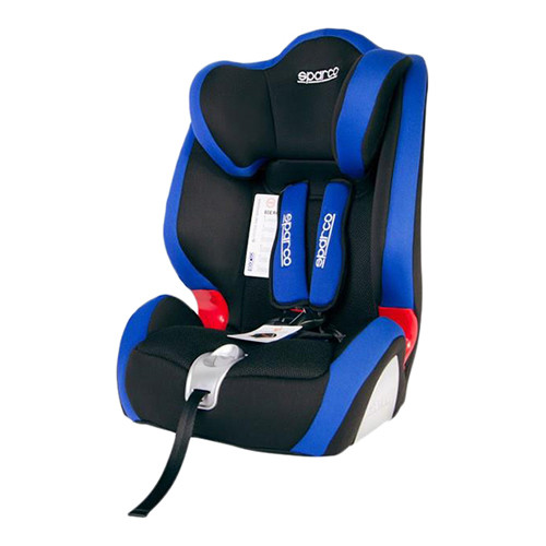 F1000k Sparco Child Seat Polyester Mesh Blue