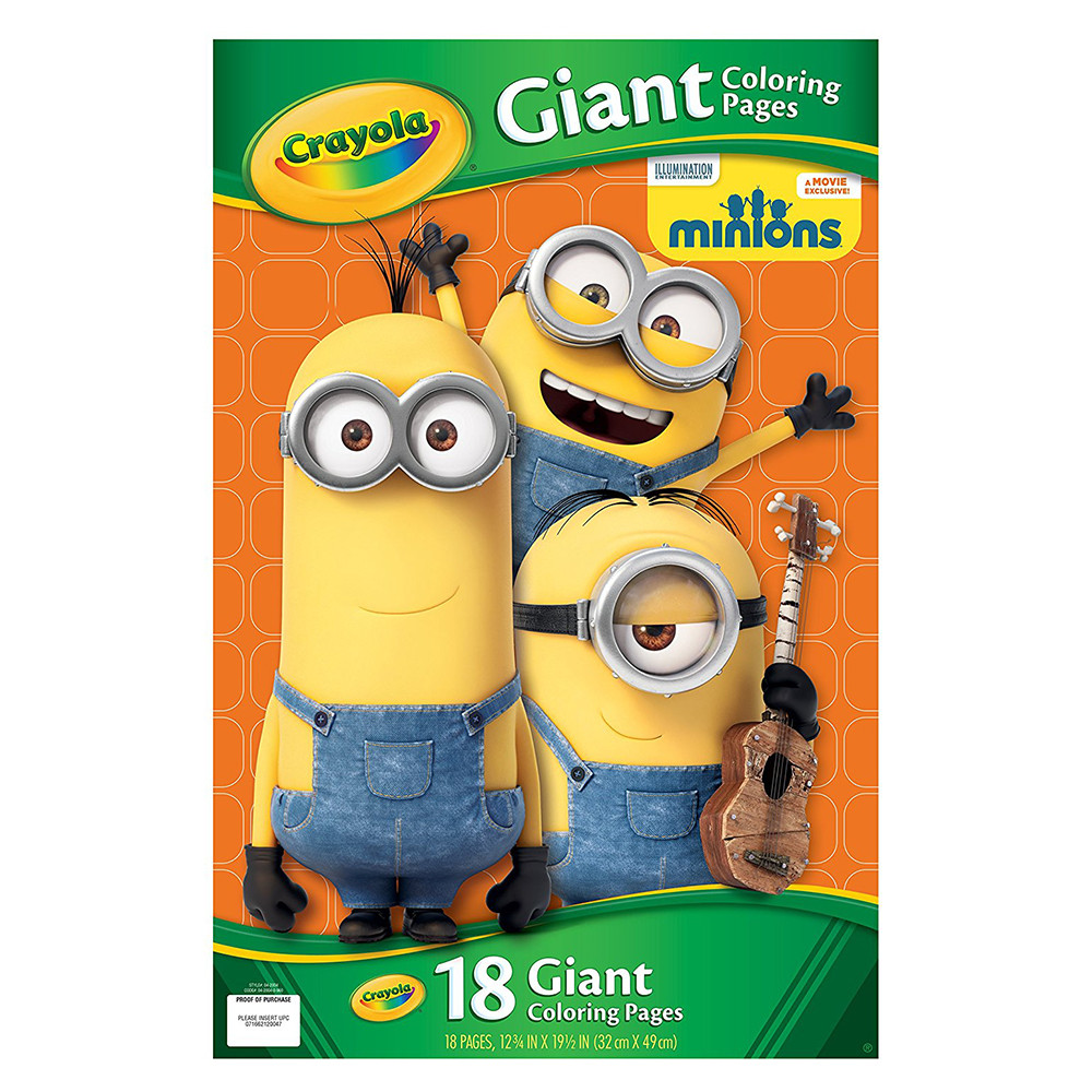 Crayola despicable me giant coloring pages