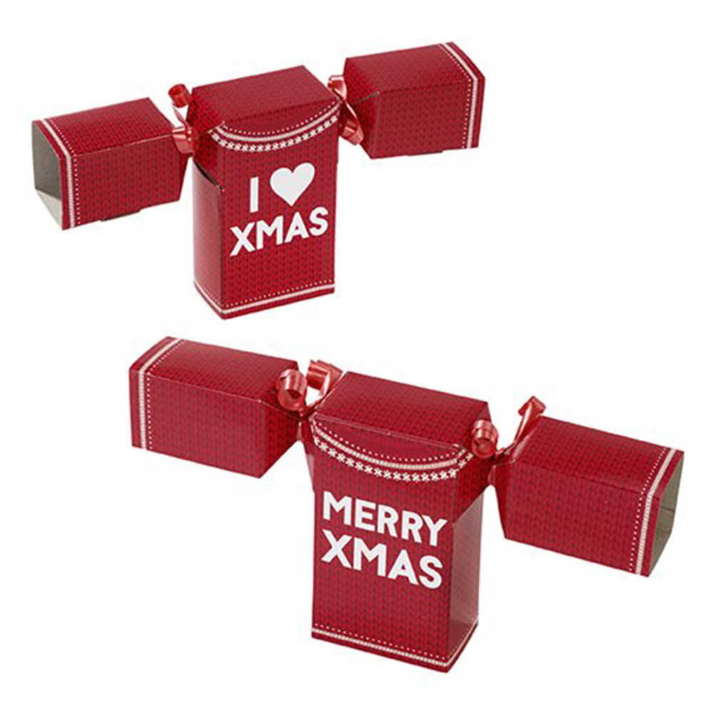 Christmas Crackers.Talking Tables Jumper Shaped Christmas Crackers