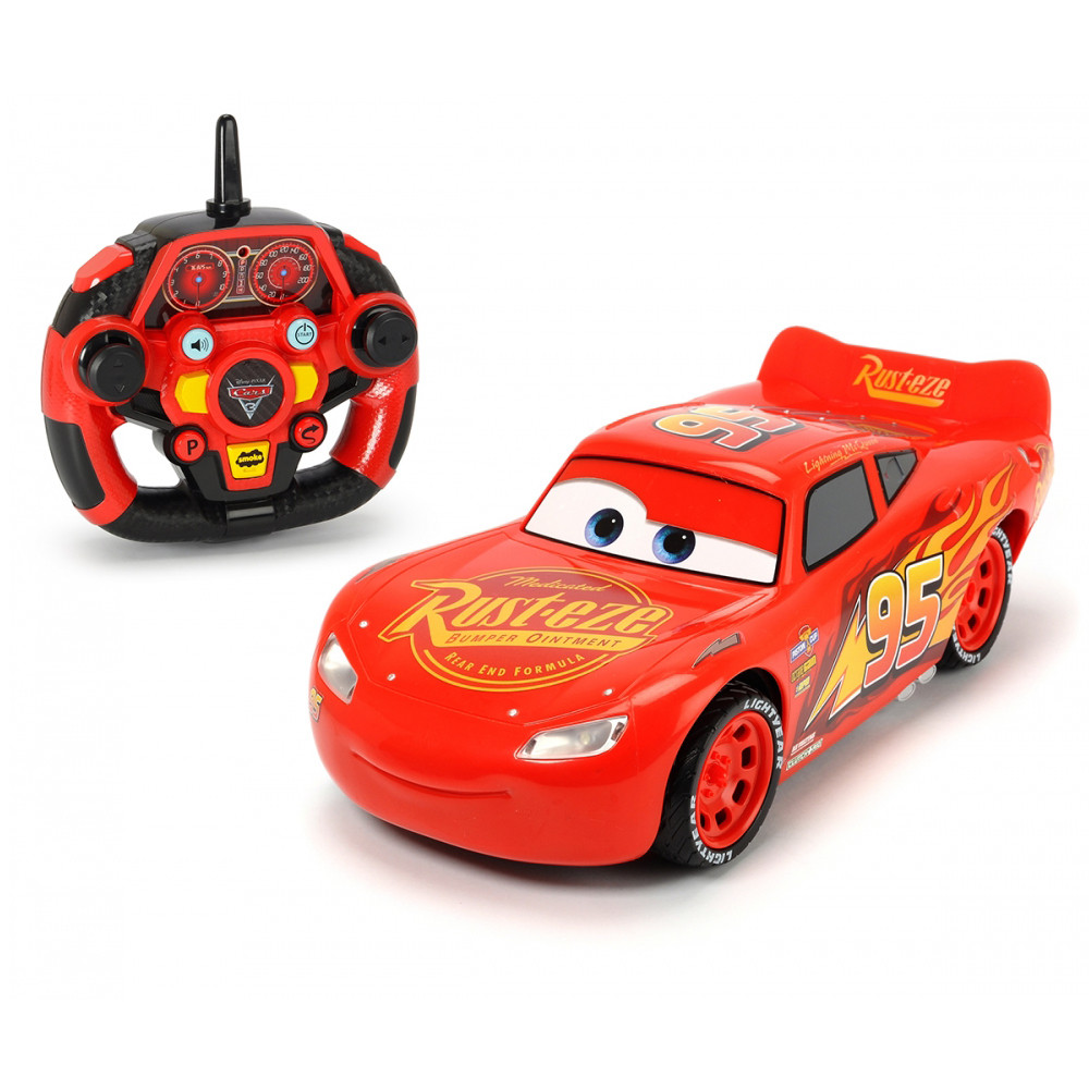dickie toys cars 3 rc feature lightning mcqueen 1 16 red