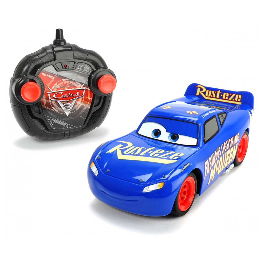 Dickie Toys Cars 3 Rc Hero Mcqueen Final Race Scale Blue