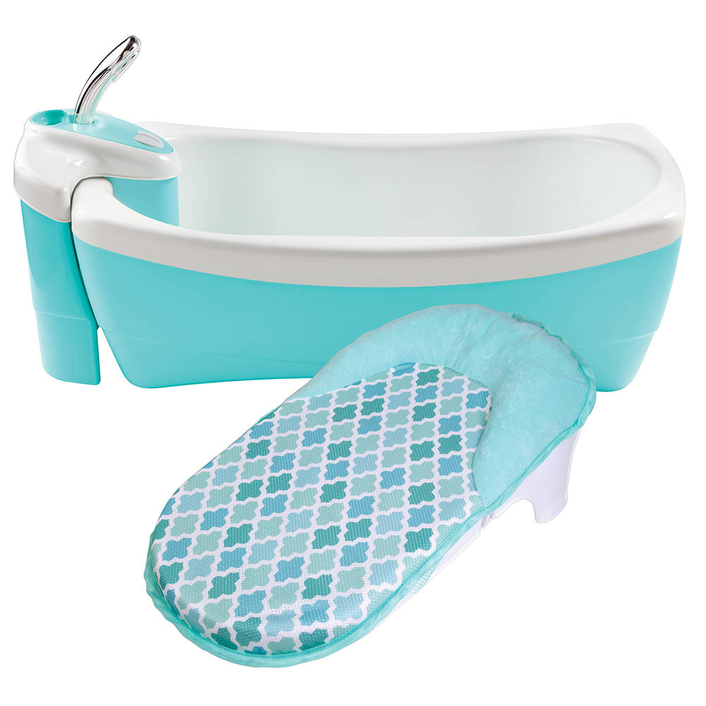 Summer Infant - Lil Luxuries Bubbling Spa & Shower - Blue - Bath ...