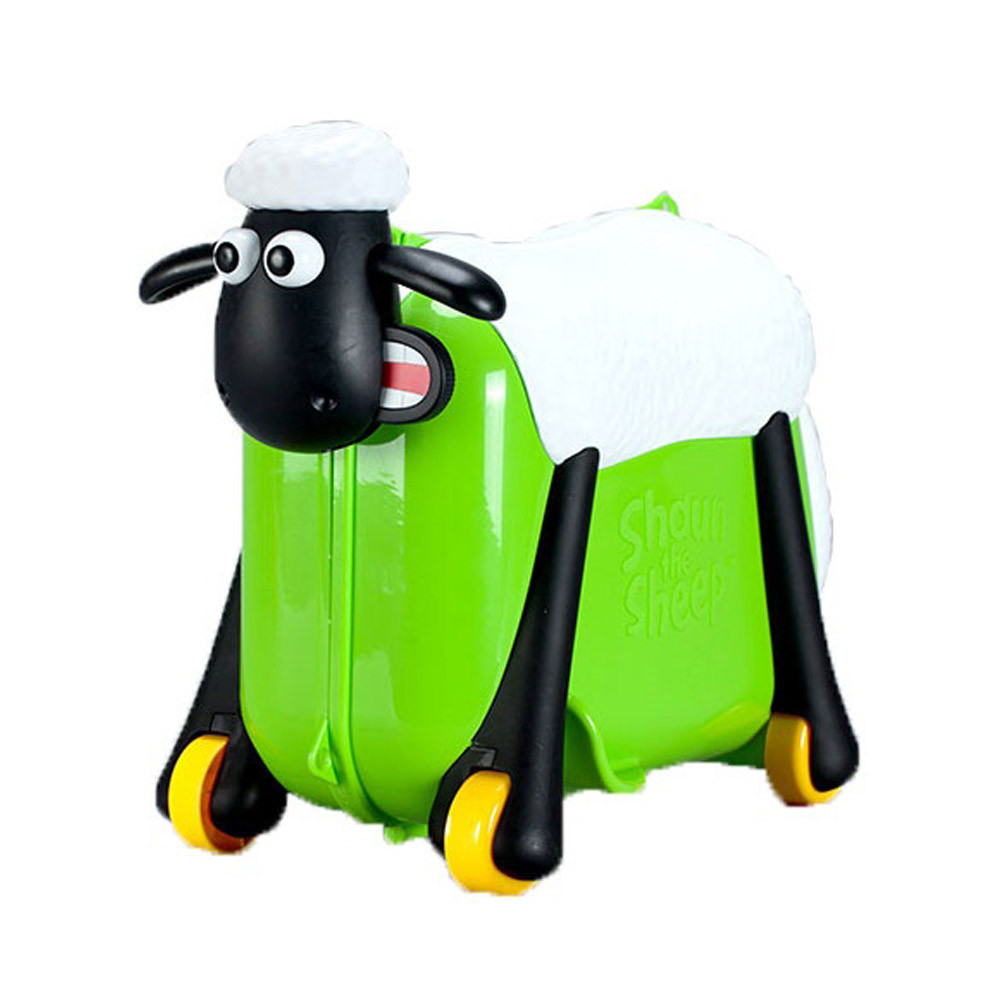 Shaun The Sheep Ride On Suitcase Green