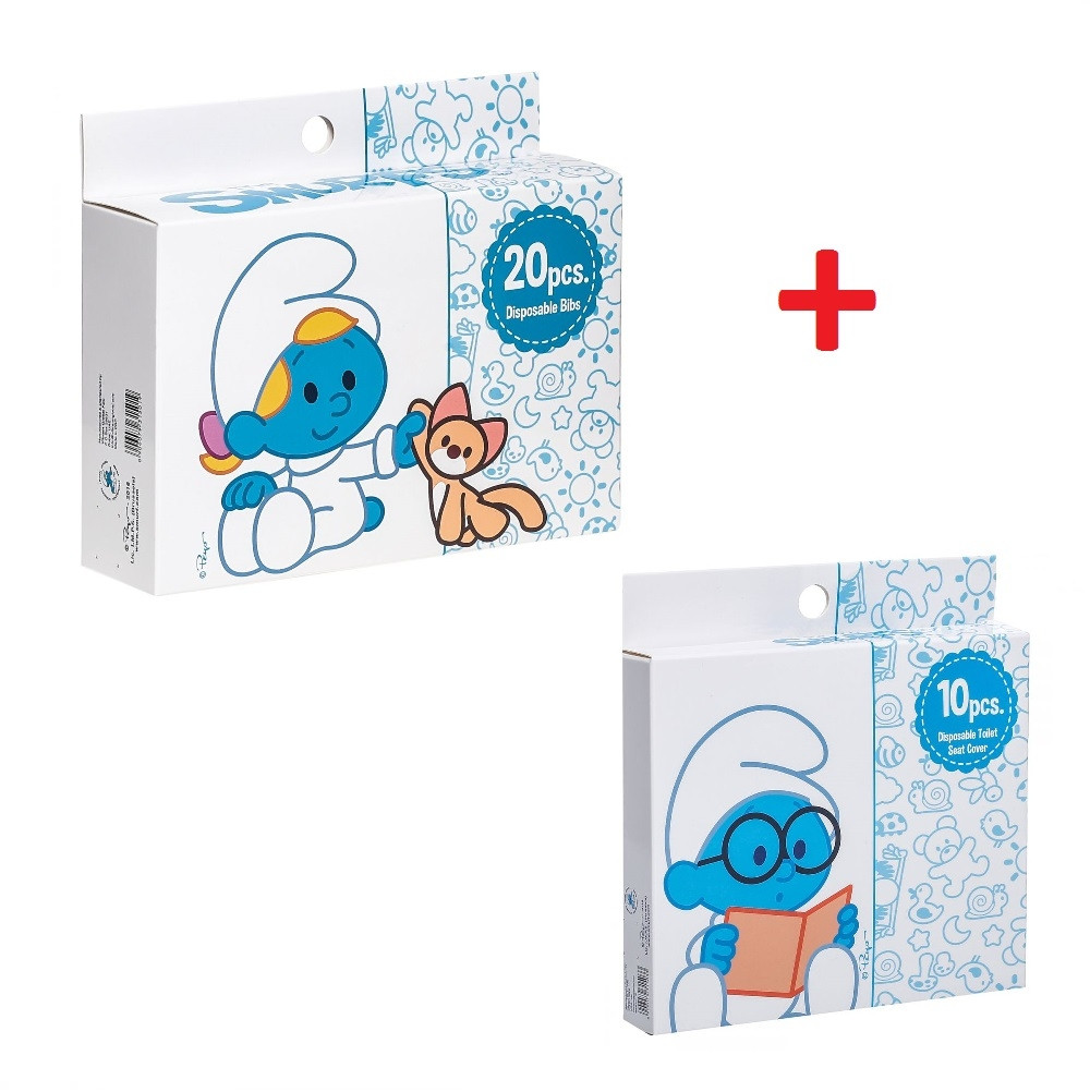 Miraculous Smurf Box Of 20 Disposable Bibs With Smurf Disposable Toilet Seat Covers 10Pcs Camellatalisay Diy Chair Ideas Camellatalisaycom