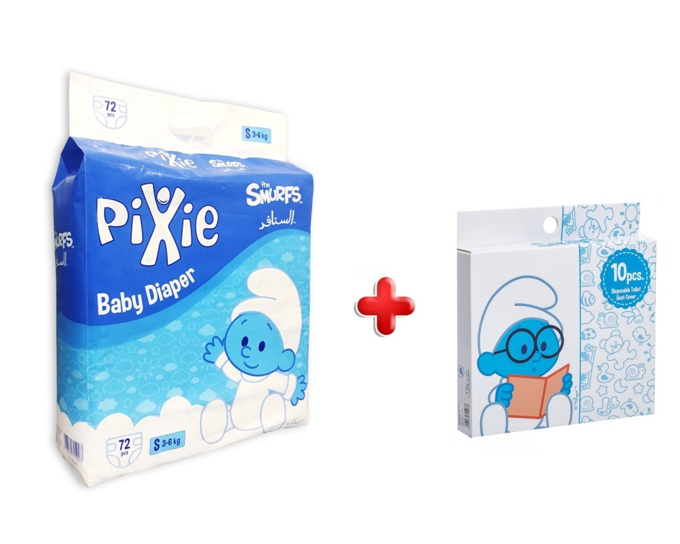 Excellent Pixie Smurf Baby Diapers Small 72 Pcs With Smurf Disposable Toilet Seat Covers 10Pcs Camellatalisay Diy Chair Ideas Camellatalisaycom