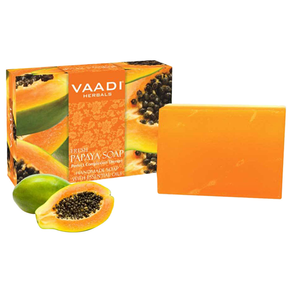 Bath & Body Vaadi Herbals Lavish Almond Soap Cleanses Skin Keep Your Skin Soft 75g Pack Of 6