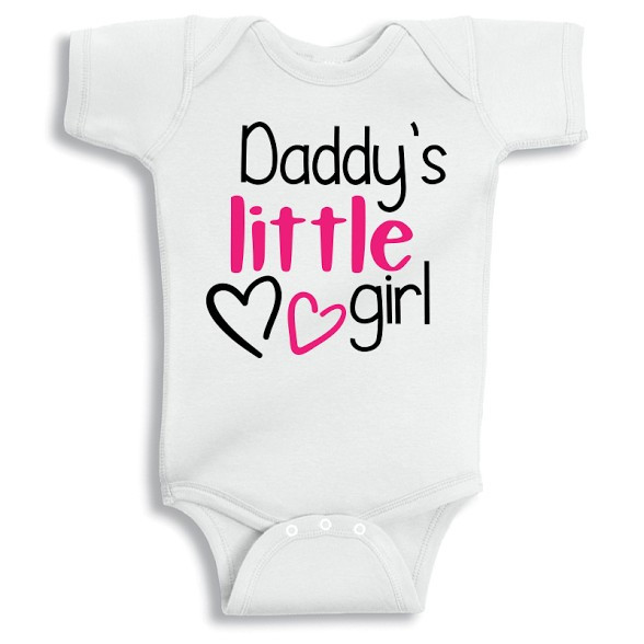 a50f6255f Twinkle Hands - Daddy s Little Girl Baby Onesie