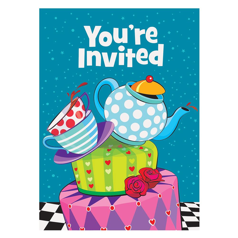 بطاقة دعوة لحفلة شاي