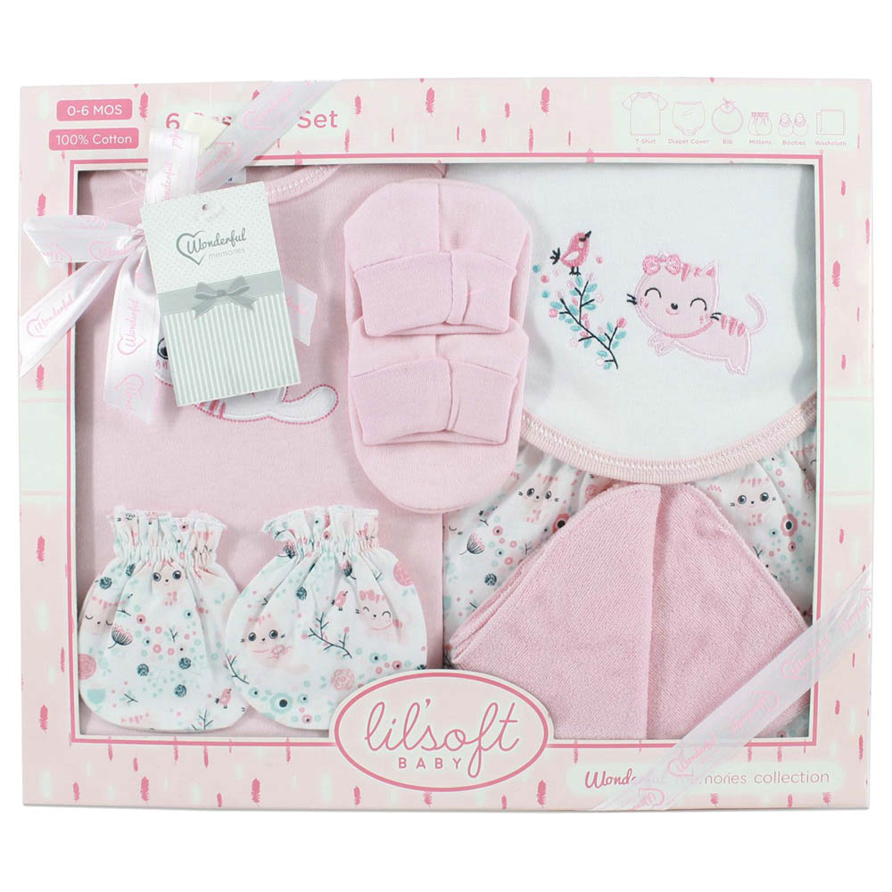 Lilsoft - Baby Girl Clothes 8pcs Gift Set - New Born