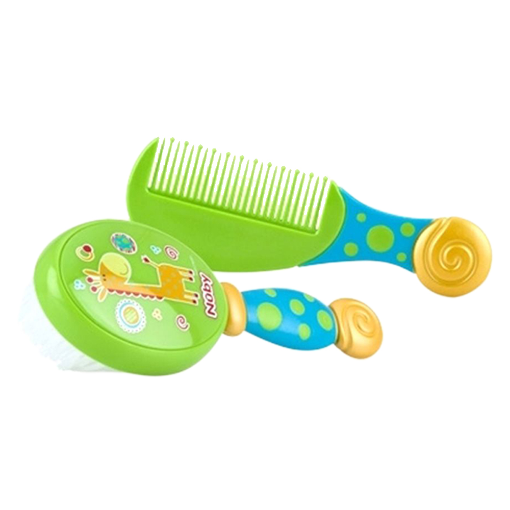 New First Steps Brush and Comb Set Baby Care 2pc Child Babies Hair Brushing Soft