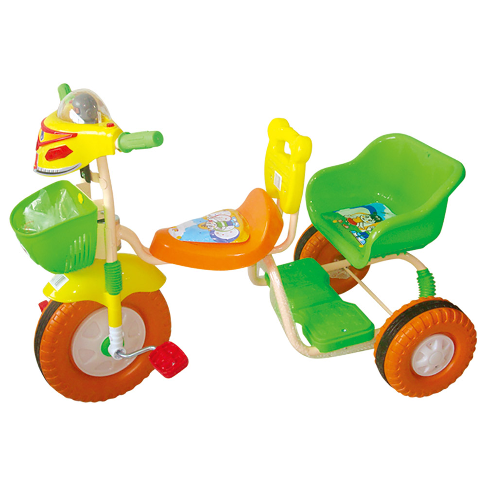 Best Toy - Colourful Tricycle Double Seat