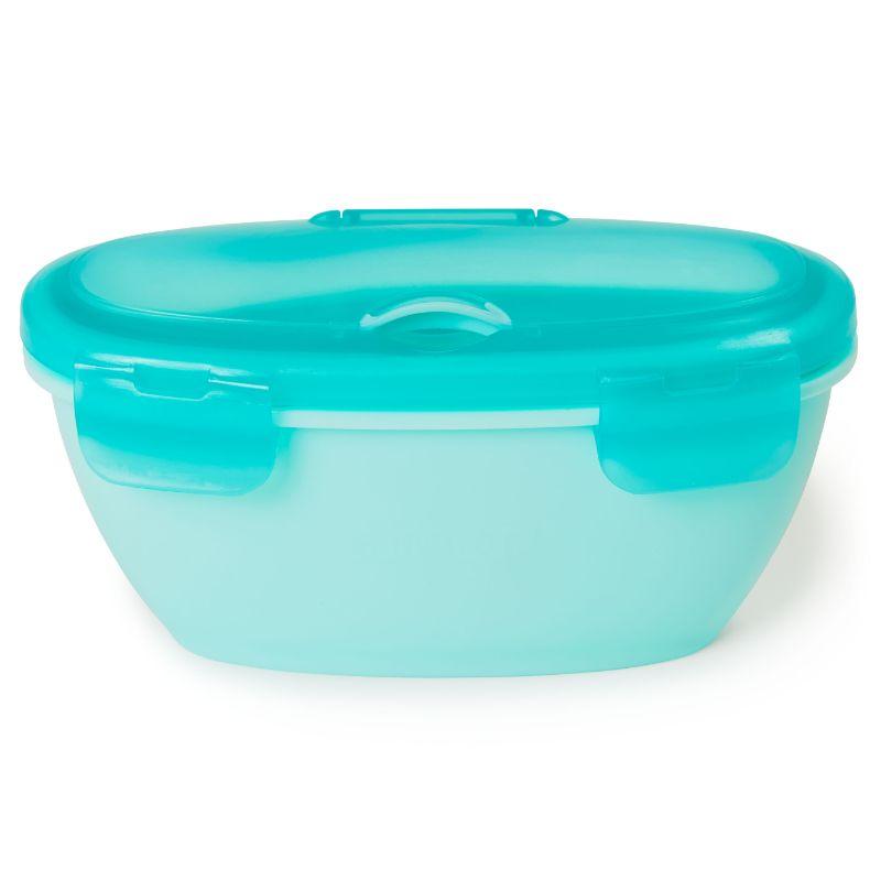 Teal Skip Hop 252009 Easy-Serve Travel Bowl /& Spoon