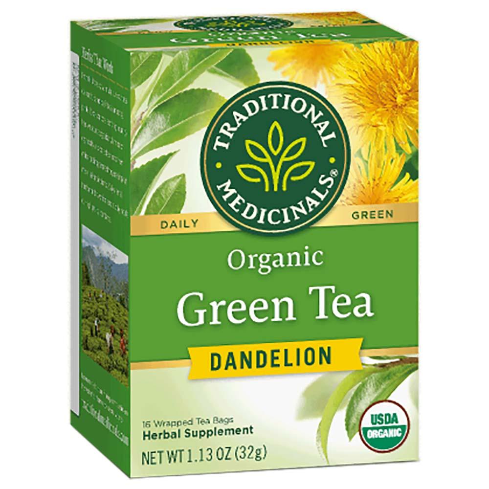 شاي أخضر مع نبتة الهندباء من ماركة تراديشنال ميديسينالز