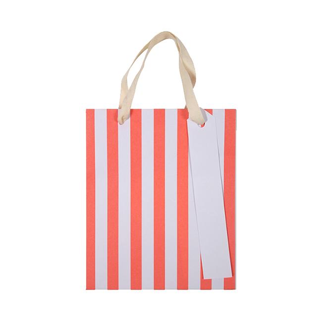 Meri Neon Stripe Gift Bags Small