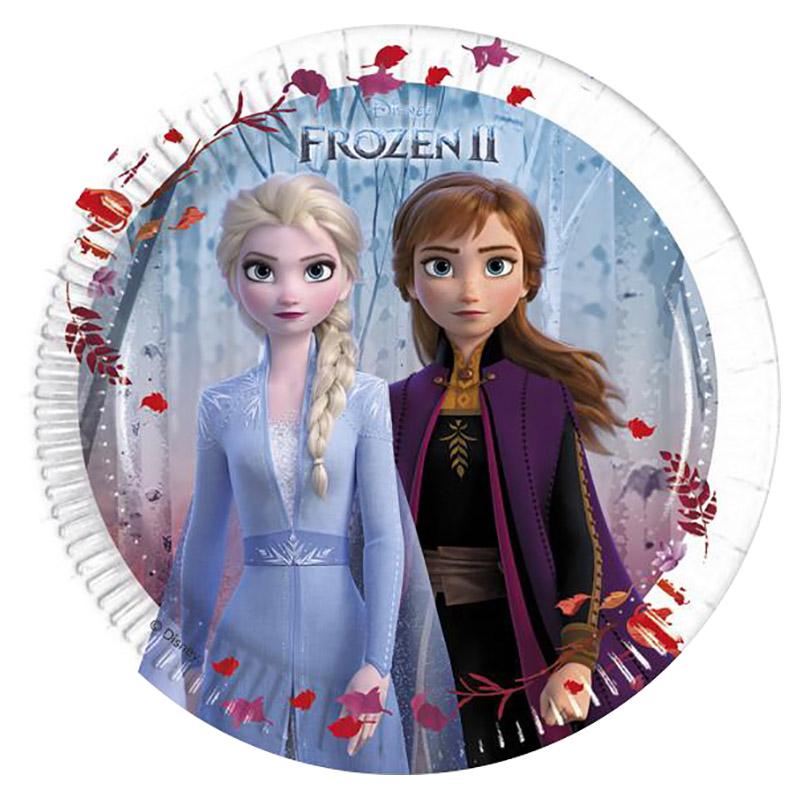 Multi-Coloured Details about  /PROCOS Ice Queen 8 Plates Paper Disney Frozen show original title