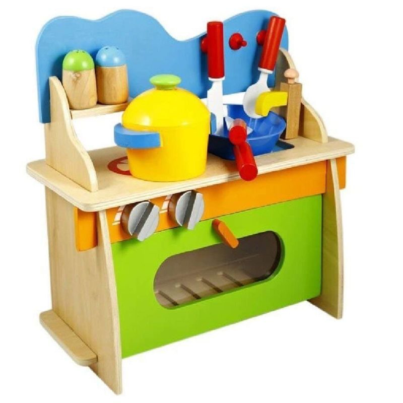Factory Price Rio Assembled Wooden Cooking Kitchen Set
