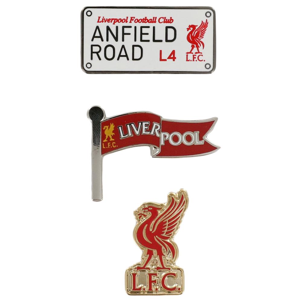 Magnet Set LFC Pin Badge Set Liverpool FC