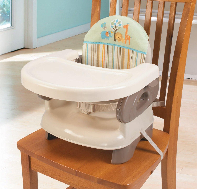 Summer Infant, Deluxe Comfort Folding Booster Seat-Safari Stripe